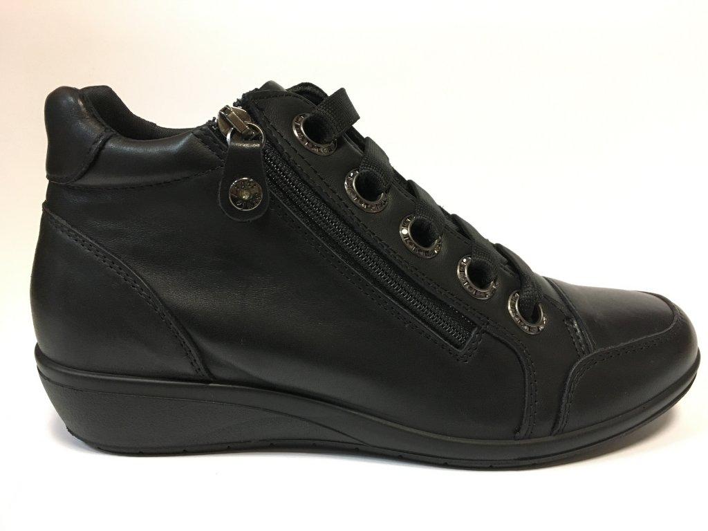 Santé IC/406980 černé podzimní boty na klínu