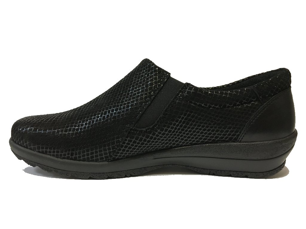 Alpina 8338-46, šíře K, kožená, černá dámská vycházková obuv