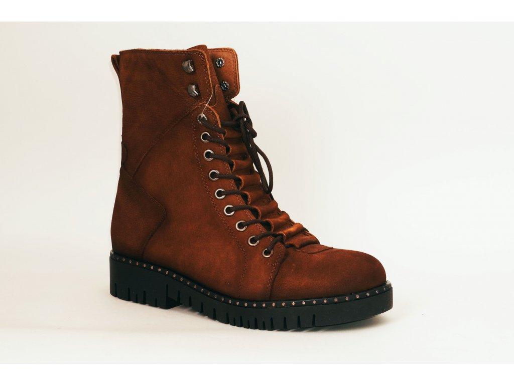 Looke Xavierra hnědé zimní boty