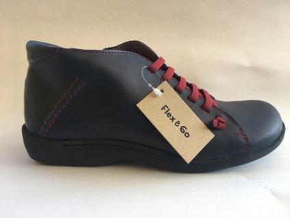 Flex and Go BT0201 modré kotníkové boty