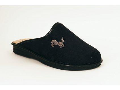 Santé LX/630 pánské domácí pantofle černá