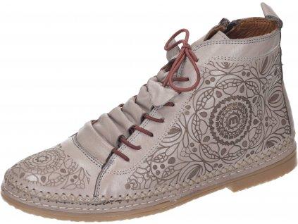 Manitu 990039 08 dámské kotníkové boty béžová