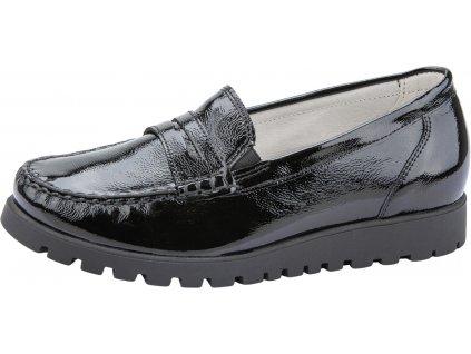 WALDLÄUFER Hegli 549002 dámská kožená obuv šíře H černá lak