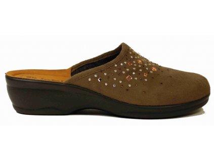 Inblu BJ-51 brown dámské domácí boty