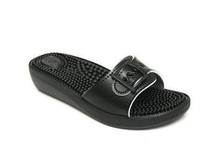SI/03C1 černé masážní pantofle