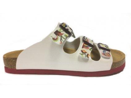 Dr.Brinkmann 700976 korkové pantofle bílé