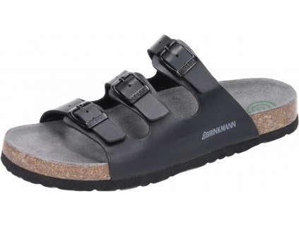 Dr Brinkmann 701171 korkové pantofle černá