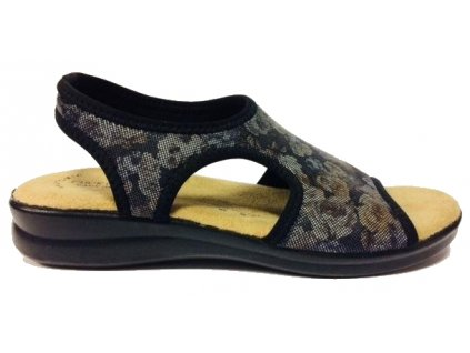 NERO CLICK 8031.17 Medistyl, sandál černý textil