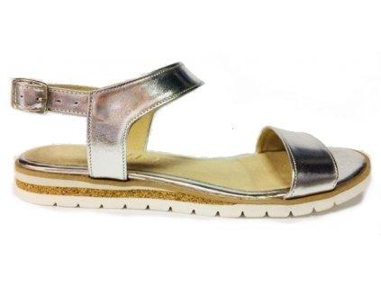 Hujo J 3650 stříbrné kožené sandále