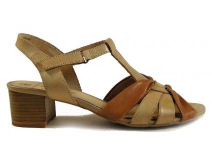 Caprice 28205 béžové dámské sandále