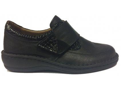 Flexiblová obuv 8380 VE černé polobotky (dříve Pk-rega) - pro ortopedické vložky