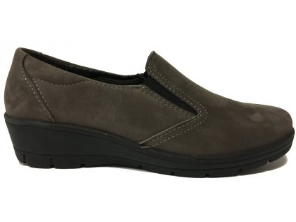 Hellica 765, dámská vycházková obuv, šedá nubuk