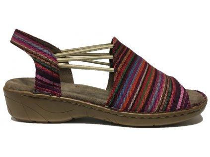 Jenny 22-57283-83 G canvas multi pohodlné dámské sandále