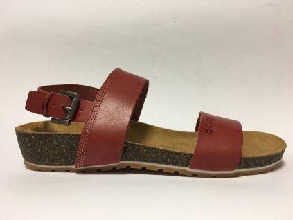 Big Star 274A016 červené sandále na korku
