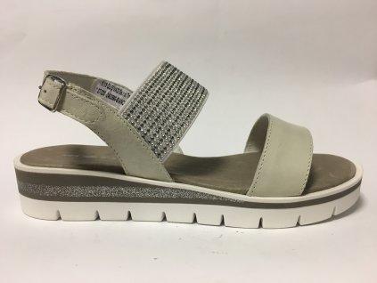 Rizzoli 2453866 bílé kožené sandále Quo Vadis