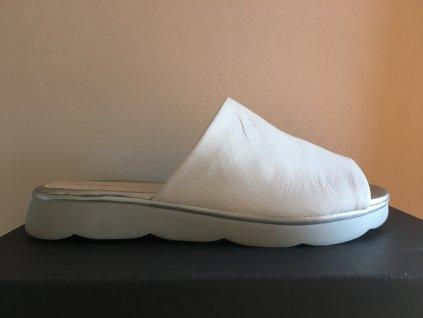 Rizzoli 2403541 bílé kožené pantofle