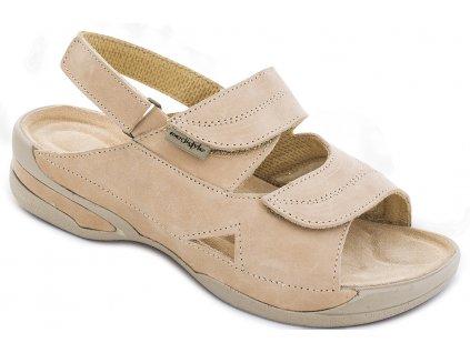 LUCY sandal bezovy halux