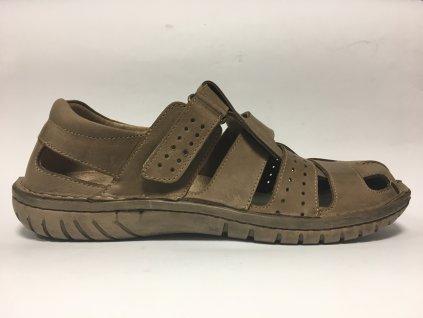 Pánské vycházkové sandály hnědé - Hujo EF 236