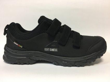 Softshell WT51/19 American club, černá, suchý zip