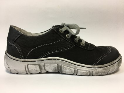 Kacper 2-0552-109 černé dámské boty s širokou špičkou šíře H