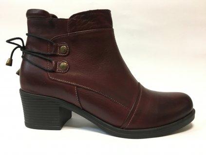 Safe Step 19201 bordo podzimní boty na podpatku