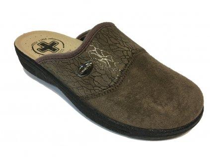 Medi Line 454 hnědé pohodlné pantofle
