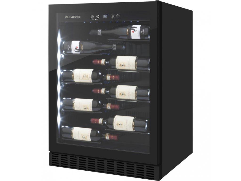 PHILCO PW 40 LV jednozónová vínotéka  + Bezplatný servis 36 mesiacov navyše