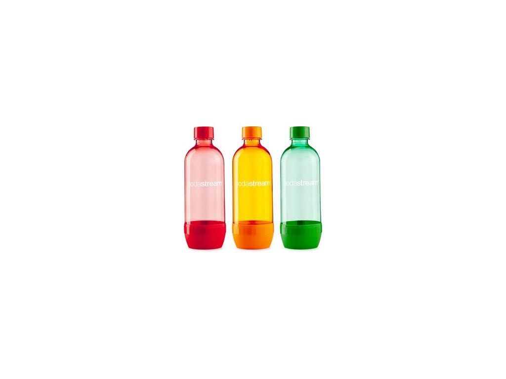 SODASTREAM Fľaša TRIPACK 1l ORANGE/GREEN/RED