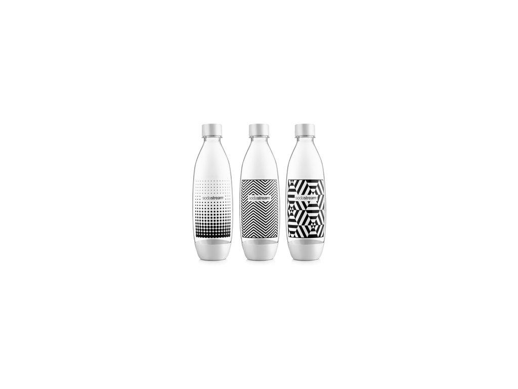SODASTREAM Fľaša FUSE TRIPACK 1l / B&W