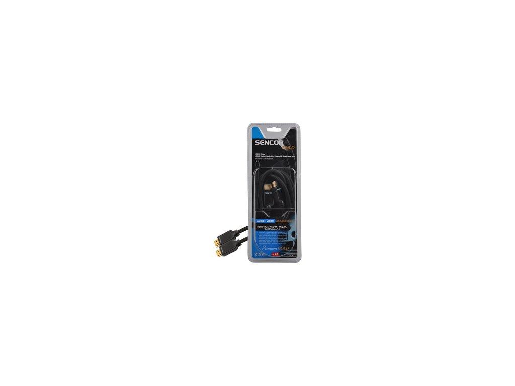 SENCOR SAV 165-025 HDMI M-M 2,5M v1.4 PG