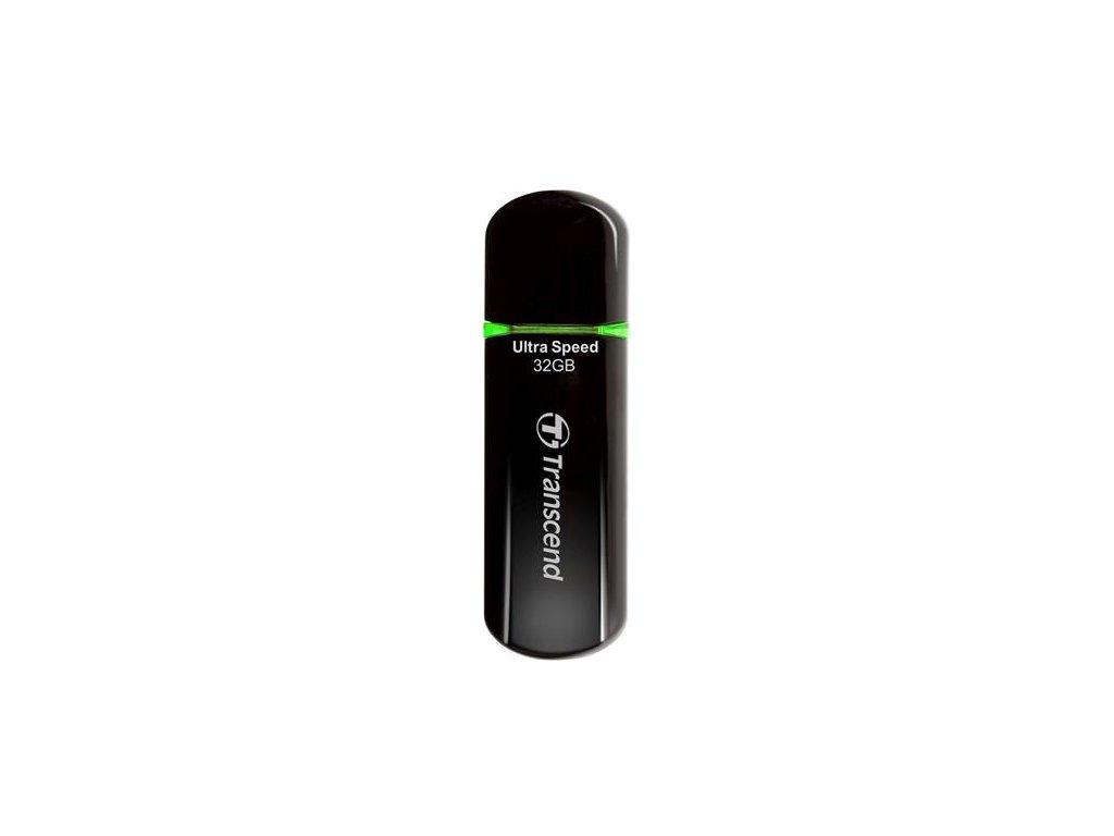 Transcend 32GB JetFlash  600, USB 2.0  černo/zelený TS32GJF600