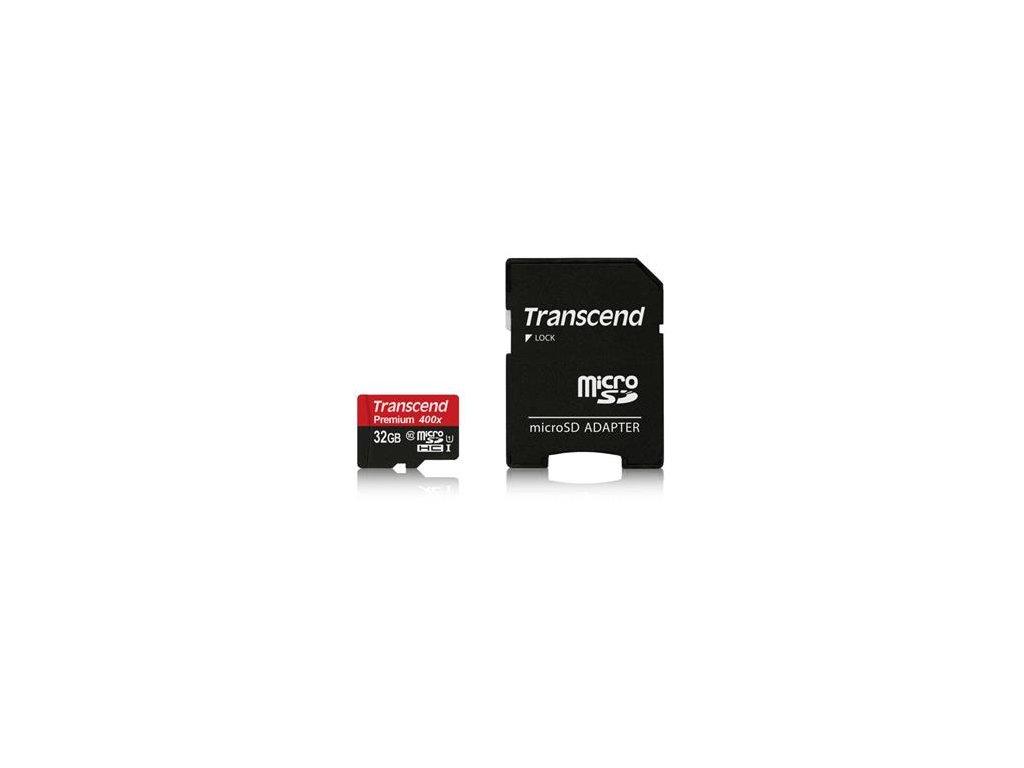 Transcend microSDHC 32GB UHS-I Class 10 + adaptér