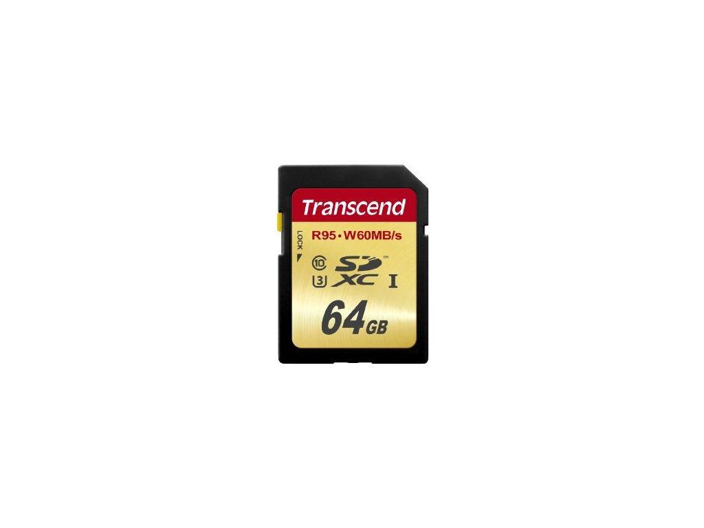 Transcend SDXC 64GB Class 10 UHS-I