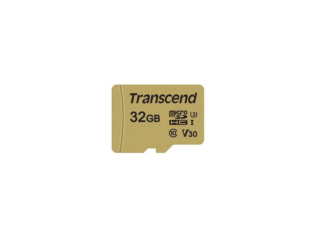 Transcend microSDHC 32GB UHS-I U3 V30 Class 10 + adaptér