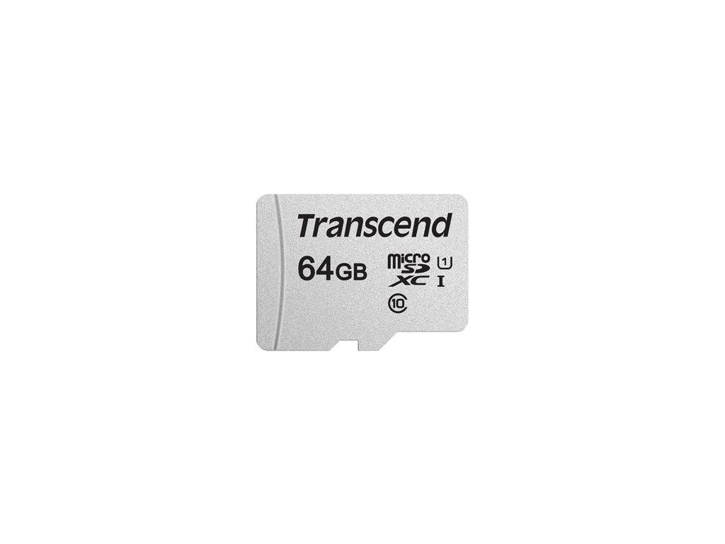 Transcend microSDXC 64GB UHS-I U1 Class 10 - bez adaptéru