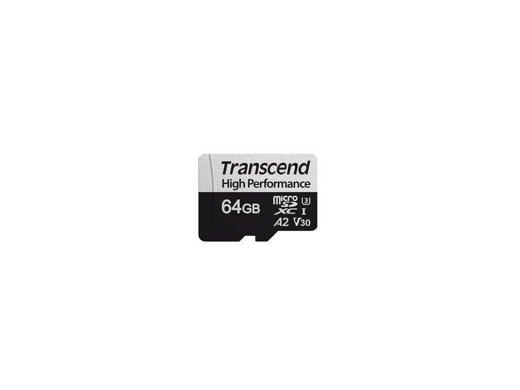 Transcend microSDXC 64GB UHS-I U3 V30 A2 Class 10 - bez adaptéru