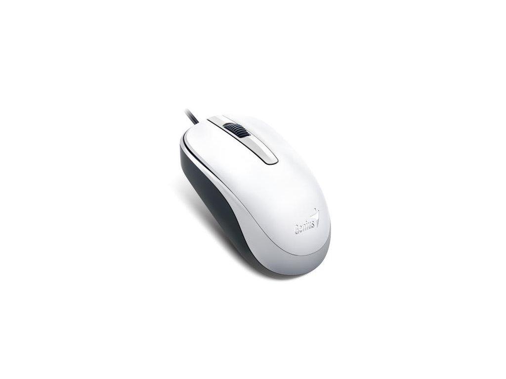 Genius myš DX-120/ drátová/ 1200 dpi/ USB/ bílá
