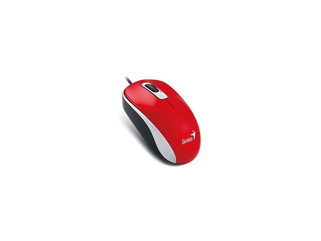 Genius DX-110/ drátová/ 1000 dpi/ USB/ červená