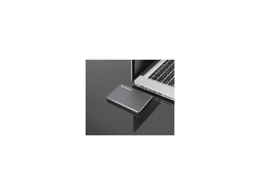 "TRANSCEND StoreJet 1TB, 2.5"", USB 3.0 šedý"