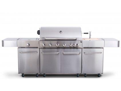 G21 Plynový gril G21 Nevada, BBQ kuchyňa Premium Line 7 horákov