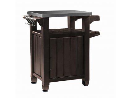 Grilovací stolík Keter UNITY 105L hnedý
