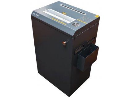 AT skartovač AT-70C/ řez 4x40 mm/ pracovní šíře 270 mm/ kapacita 25 listů/ objem koše 53 l/ stupeň utajení P4/ šedý