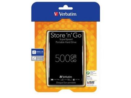 "VERBATIM Store 'n' Go 500GB, 2.5"" USB 3.0, Black"