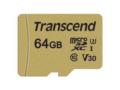 Transcend microSDXC 64GB UHS-I Class 10 +adaptér