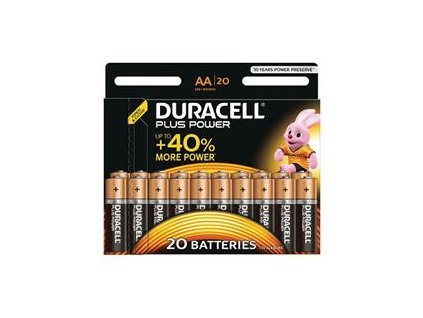 Duracell MN1500B20 Plus Power AA - 20 Pack