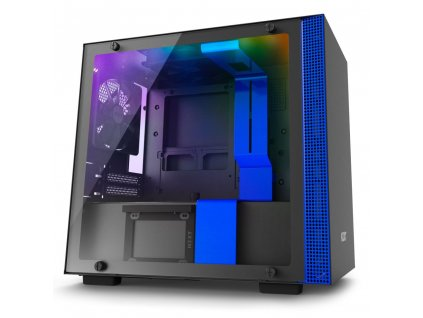 NZXT H200i mini ITX 2x USB 3.0 / RGB LED/Smart case čierno-modrá