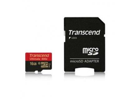 Transcend 16GB microSDHC UHS-I + adaptér
