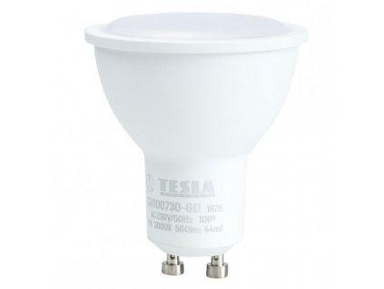 TESLA LED žárovka/ GU10/ 7W/ 230V/ 560lm/ 3000K/ teplá bílá/ stmívatelná