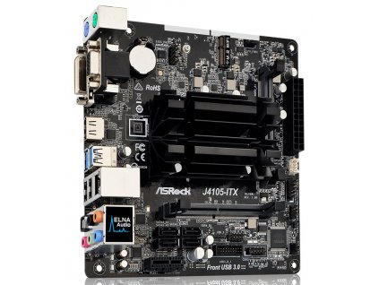 ASRock J4105-ITX / Gemini Lake / Celeron J4105 / 2x DDR4 SO-DIMM / D-Sub / DVI-D / HDMI / Mini-ITX
