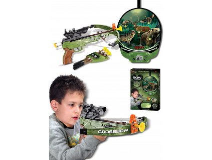 G21 Hračka Kuša pištoľová s terčom so zvieratami elektronická